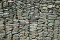 Gabion Wall Background Stock Photo