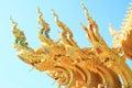 Gable apex of public thai temple Stock Photography