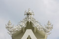 Gable apex in wat rong khun thailand white temple chiang rai Royalty Free Stock Photos