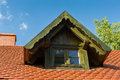 Gable dormer on a red tiled roof Royalty Free Stock Image