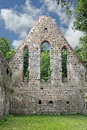Gable end of a destroyed monastery church the small town zehdenick is located in the brandenburg state north berlin the former Royalty Free Stock Images