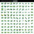 Gabon flag, vector illustration