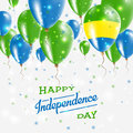 Gabon Vector Patriotic Poster. Independence Day.