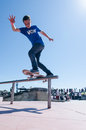 Gabriel ribeiro cascais portugal april during the th stage of the dc skate challenge by fuel tv Stock Images