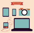 Gadget design over beige background vector illustration Stock Image