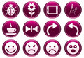 Gadget icons set. Royalty Free Stock Photo