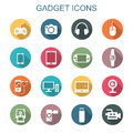 Gadget long shadow icons Royalty Free Stock Photo