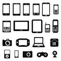 Gadget set for your design Stock Images