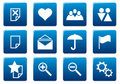 Gadget square icons set. Royalty Free Stock Photo