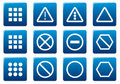 Gadget square icons set. Royalty Free Stock Images