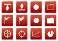 Gadget square icons set. Royalty Free Stock Photography
