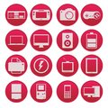 Gadget technology icon set gradient style a Royalty Free Stock Photo