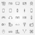 Gadgets and devices icons Royalty Free Stock Photo