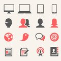 Gadgets icon set web and soft vector eps Royalty Free Stock Image