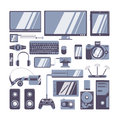 Gadgets icons set.