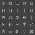 Gadgets icons set Royalty Free Stock Photo