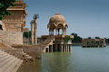 Gadi Salmar Lake Jaisalmer India Royalty Free Stock Photos