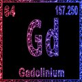 Gadolinium chemical element, Sign with atomic number and atomic weight Royalty Free Stock Photo