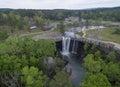 Gadsden alabama april flying over noccalula falls park and campgrounds Stock Image