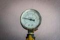 Gage closeup image of pressure Stock Image