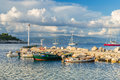 Gaios on the island of paxos old port a stopping point for all yachts in ionian islands Stock Photography