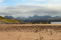 Gairloch north west scotland beach on a sunny day the gorgeous landscape of in coast of Stock Photography