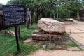 Gal pota big stone book in polonnaruwa sri lanka Stock Photography