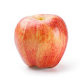 Gala apple close up organic isolated on white deep focus image with path Royalty Free Stock Photo