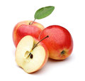 Gala apple two on white background Stock Image