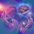 Galactic Mind Royalty Free Stock Photo