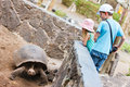 Galapagos family vacation Stock Image