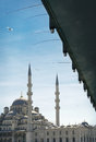 Galata Bridge and New Mosque (Istanbul, Turkey) Royalty Free Stock Photos