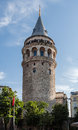Galata tower istanbul the facade of the medieval in turkey Stock Images