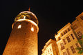 Galata tower from istanbul turkey Royalty Free Stock Images