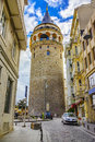 Galata Tower, Istanbul,Turkey Royalty Free Stock Photo