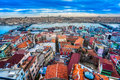 Galata tower istanbul turkey view from in beyoglu Stock Photos