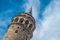Galata tower the symbol of istanbul city turkey Royalty Free Stock Photography