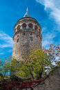 Galata tower the symbol of istanbul city turkey Stock Photos