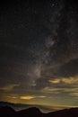 Galaxie in hehuanshan forest recreation area Stockbilder