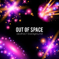 Galaxy abstract background with sparkling pink Royalty Free Stock Photo