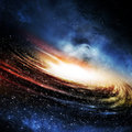 The galaxy background spiral with planet Royalty Free Stock Images