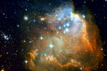 Galaxy and nebulae in outer space. Elements of this Image Furnished by NASA