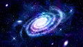 Galaxy in outer space distant spiral Stock Photography