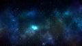 Galaxy space nebula background with star field Stock Photos