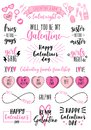 Galentines day cards, women`s day, feminist doodles, vector design elements