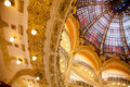 Galeries lafayette dome of interior in paris france Royalty Free Stock Image