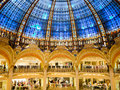 Galeries lafayette interior in paris france Royalty Free Stock Photo