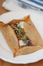 Galette de sarasin with mushrooms Stock Photography