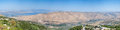 Galilee and golan heights panoramic view towards the sea of israel Royalty Free Stock Images