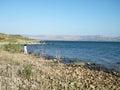 Galilee lake kinneret near chapel of the primacy in israel Royalty Free Stock Photos